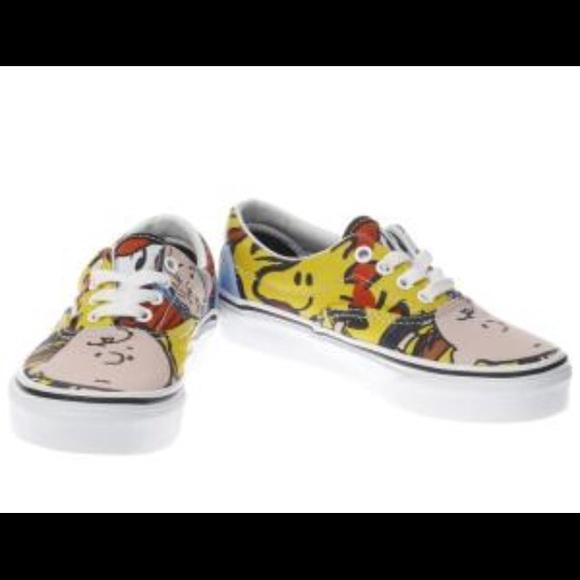Vans Era Peanuts Snoopy Skate Shoe (Youth 1, Youth Era